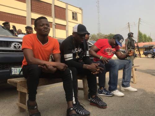 Small Doctor being paraded for possession of illegal firearm. Photo: Sahara Reporters