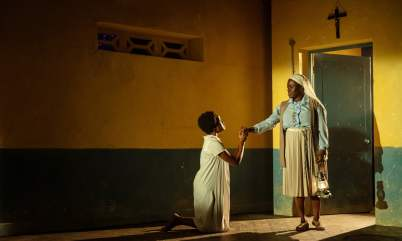 The roots of religious ecstasy … Pepter Lunkuse, left, and Michelle Asante.