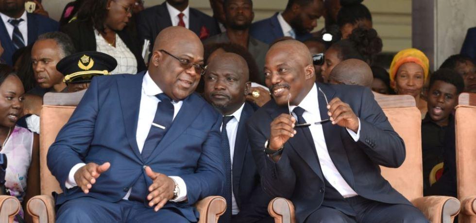 Outgoing President Joseph Kabila, on the right, and his successor Felix Tshsiekedi