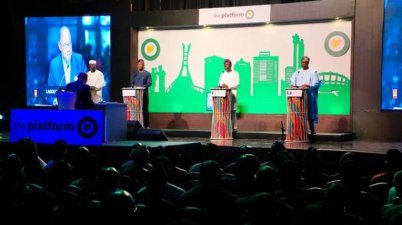 Lagos governorship candidates at The Platform Governorship Debate (Photo: Punch Newspaper)