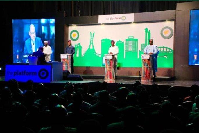 Lagos governorship candidates at The Platform Governorship Debate (Photo: Punch Newspaper)