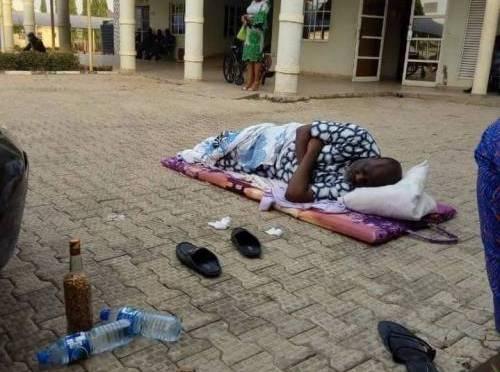 Melaye sleeps on the floor in DSS premises