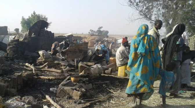 At least 30 people killed in triple suicide bombings in Nigeria's Borno state