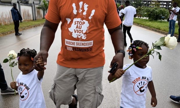 In October, people in Abidjan marched to denounce sexual violence against girls in the Ivory Coast.