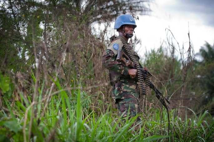 Peacekeeper with the UN Organisation Stabilisation Mission in the DRC MONUSCO/Sylvain Liechti