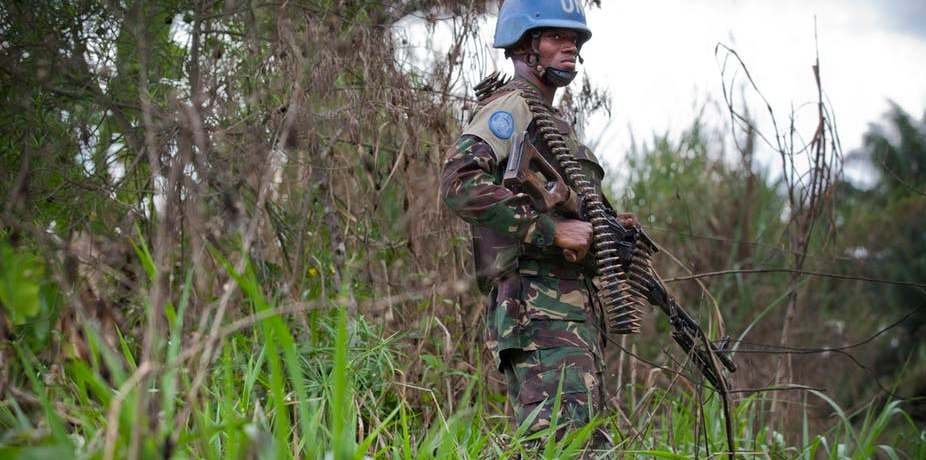 Peacekeeper with the UN Organisation Stabilisation Mission in the DRC MONUSCO/Sylvain Liechti