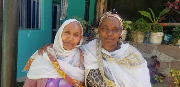 Megebe Temesgen (L) is grateful to Shasitu Nigusse for keeping her promise