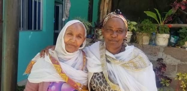 Megebe Temesgen (L) is grateful to Shasitu Nigusse for keeping her promise