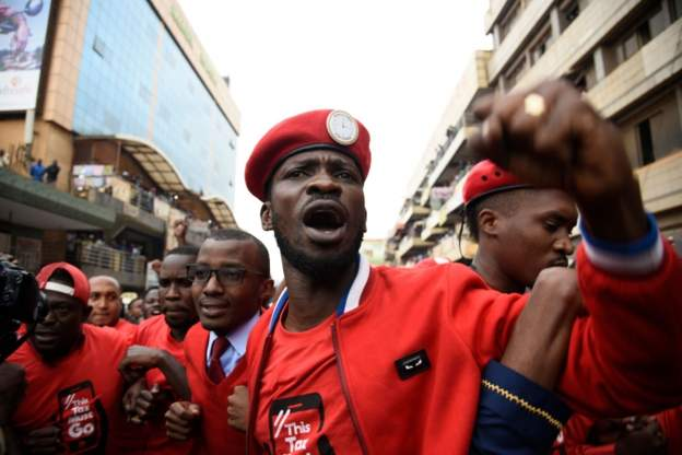 "Bobi Wine calls himself the ""ghetto president"""