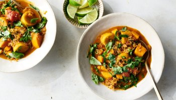 This vegetarian stew is very adaptable: Use any potato that will hold up in the soup.Credit...David Malosh for The New York Times. Food Stylist: Barrett Washburne.